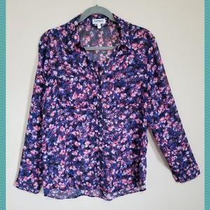 The Portofino Shirt Rose Floral Popover Blouse